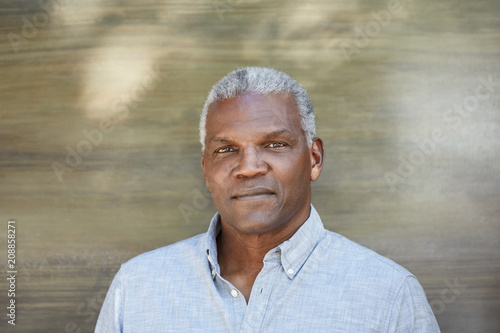 Serious portrait of mature African American man