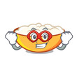 Super hero cottage cheese character cartoon