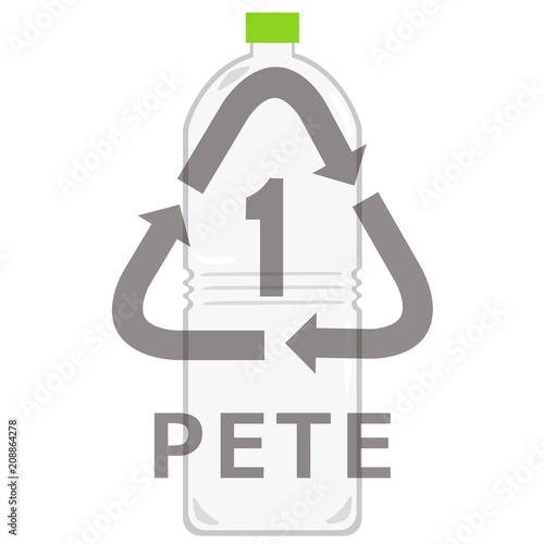 Fotografie, Obraz  アメリカのペットボトルリサイクルマーク