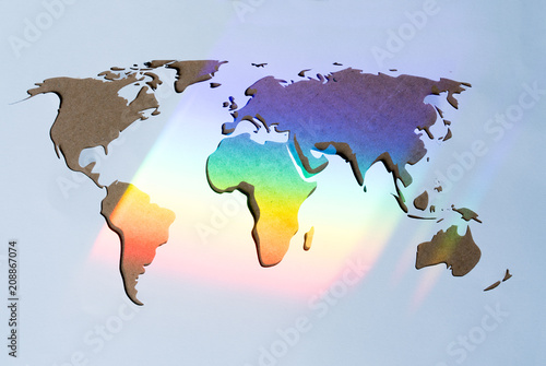 Rainbow lights on continents