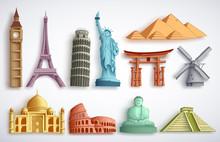 Travel Landmarks Vector Illust...