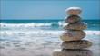balance stone on the beach 2