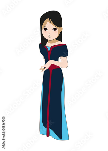 Photo  mulan fairy character anime beautiful girl