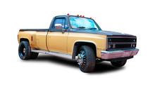 American Pickup Truck. White B...