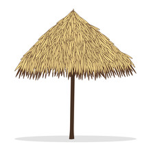 Bamboo Beach Umbrella Isolated...