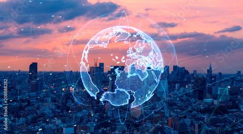 Obraz グローバルネットワーク - fototapety do salonu