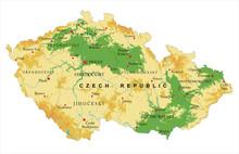 Czech Republic Relief Map