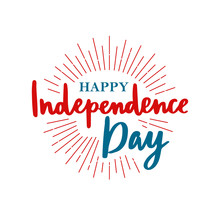 Happy United States Independence Day. 4th Of July. Vector Greeting Card.