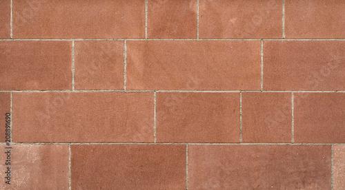 Fotografie, Obraz  Rote Sandsteinmauer