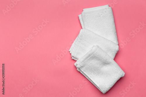 Cuadros en Lienzo spa towels, top view
