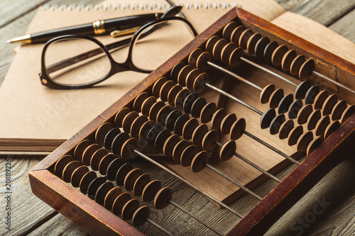 Photo Vintage abacus close up