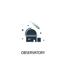 Observatory Icon. Simple Eleme...