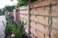 Holzzaun Eines Gartens