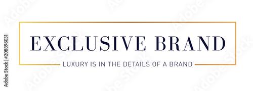 Fotografía  Exclusive Modern Rectangle Gold Logo Template