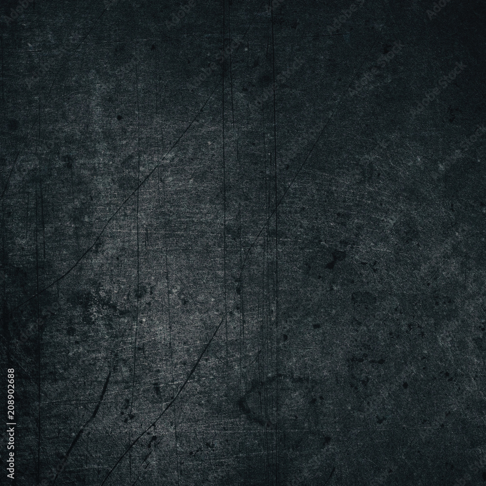 Fototapety, obrazy: Aged black color painted metal texture - retro grunge background