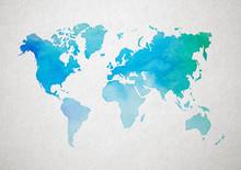 Map Poster, Travel Map, World Map Print, Wall Art, Home Decor, Map, Drawn Map Inspiring, Creative Print, Abstract Decor, Artistic World Map