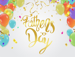 father's day background, Happy  Day Typography for greeting card, festive poster etc. Hand lettering illustration on white background