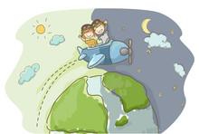 Stickman Kids Travel World Day...