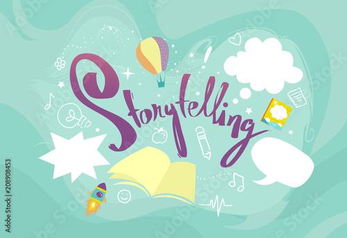 Carta da parati Storytelling Design Elements Illustration