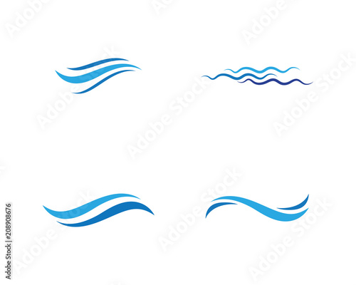 Fototapeta Water wave icon vector illustration obraz na płótnie