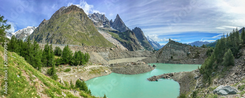 Lac du Miage (Miage lake), Aosta Valley, Italy Canvas Print