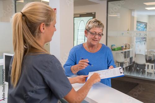 Canvas Print Fragebogen Arztpraxis