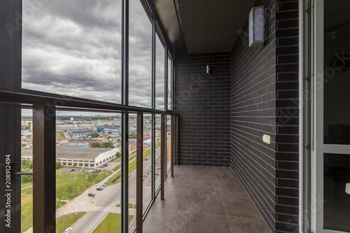 Small balcony interior Fotobehang