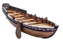 Model Of A Small Warship Of Th...