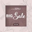 Sale banner template design, Big sale special offer. special offer banner. vector illustration.