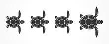 Turtles Family. Vector Illustration