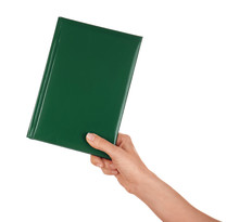 Female Hand Holding Book With ...