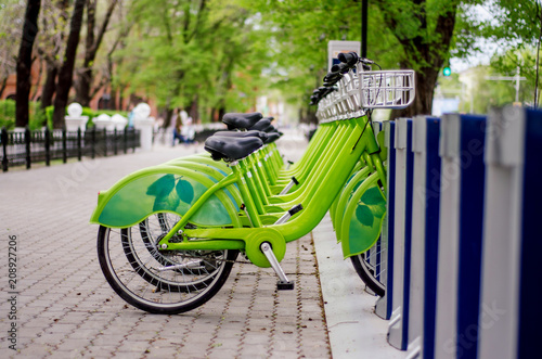 Fotografie, Obraz  Bicycle rental system