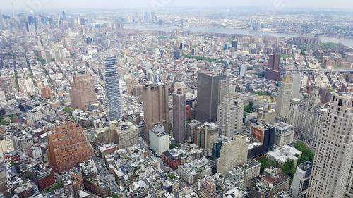 Fotobehang New York City Manhattan von oben