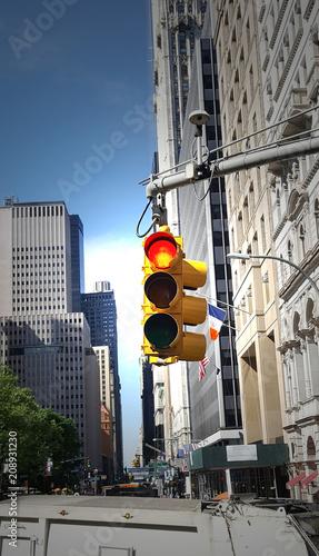 Fotobehang New York City New Yorker Ampeln