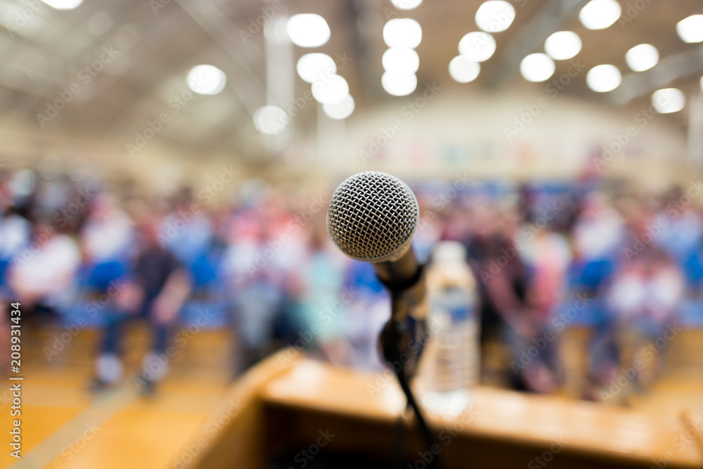 Fototapety, obrazy: town hall meeting