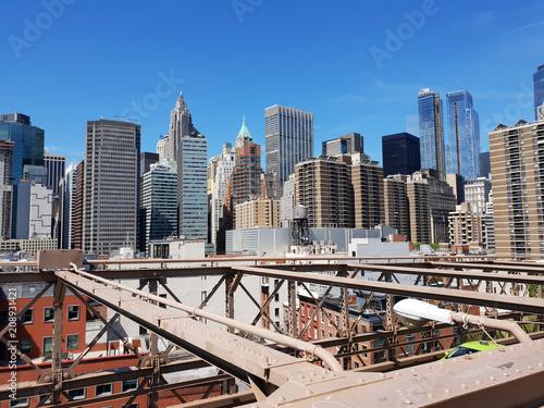 Fotobehang New York City NYC Brooklyn Bridge