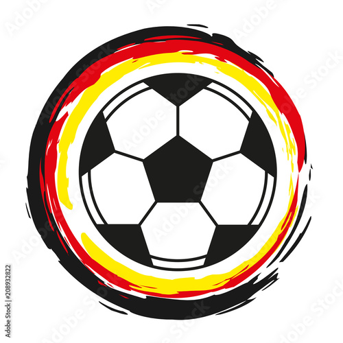 Vektor Fussball Deutschland Flagge Buy This Stock Vector