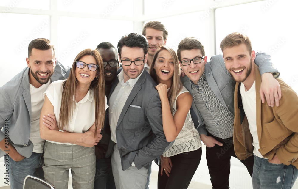 Fototapety, obrazy: group of successful business people standing in the office