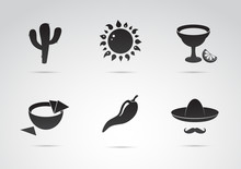 Mexico Symbols. Mexican Icon S...