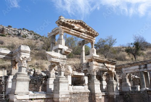 Foto op Canvas Rudnes Ruins Of Ephesus Ancient City