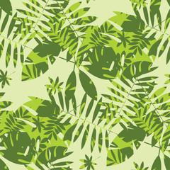 NaklejkaShabby jungle camouflage seamless pattern.