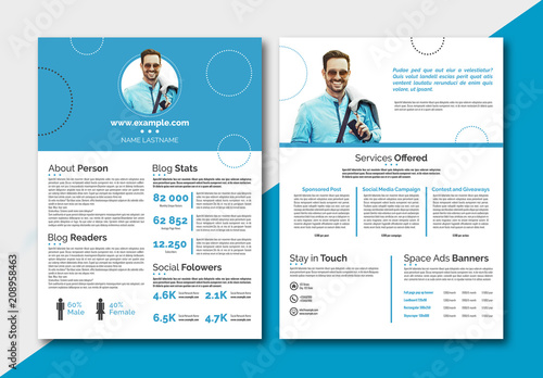 Personal Branding Media Kit Layout. Buy this stock template and ...