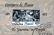 Stamp Printed In Spain Shows P...