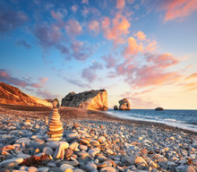 Sunset Near Petra Tou Romiou, ...