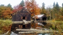 New England Saw Mill In Autumn