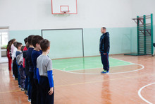 Children On The Physical Education Class