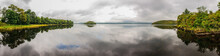 Panoramic Of Lough Gill And The Lake Isle Of Innisfree, Made Famous In A Poem By W.B. Yeats.
