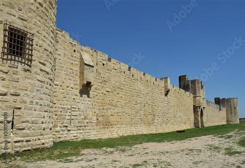 Fotografie, Obraz  Perspective : Forteresse d'Aigues-Mortes, Gard, Languedoc, Occitanie