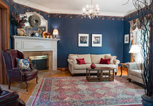 Blue Victorian Living Room