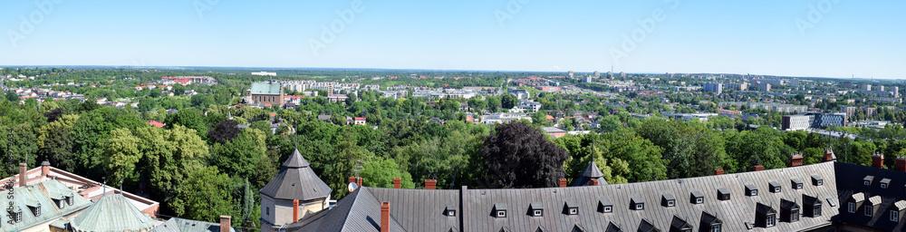 Fototapety, obrazy: Częstochowa, panorama miasta z wieży klasztoru Jasna Góra